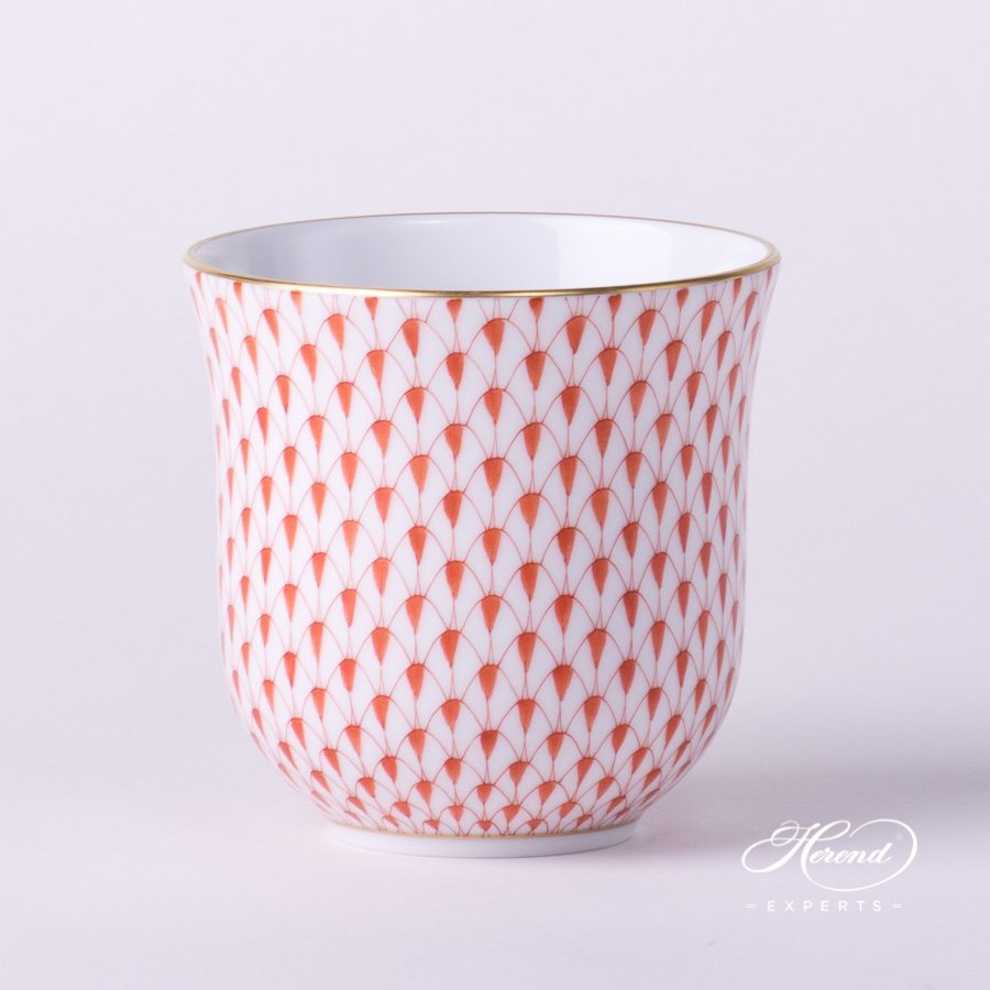 Universal Cup / Breakfast Cup 2729-0-00 VHR Red Fish Scale with Gold decor. Herend porcelain hand painted