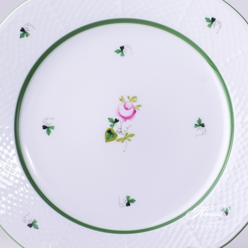 Serving (Dinner) Plate 527-0-00 VRH Vienna Rose pattern - Herend porcelain hand painted.