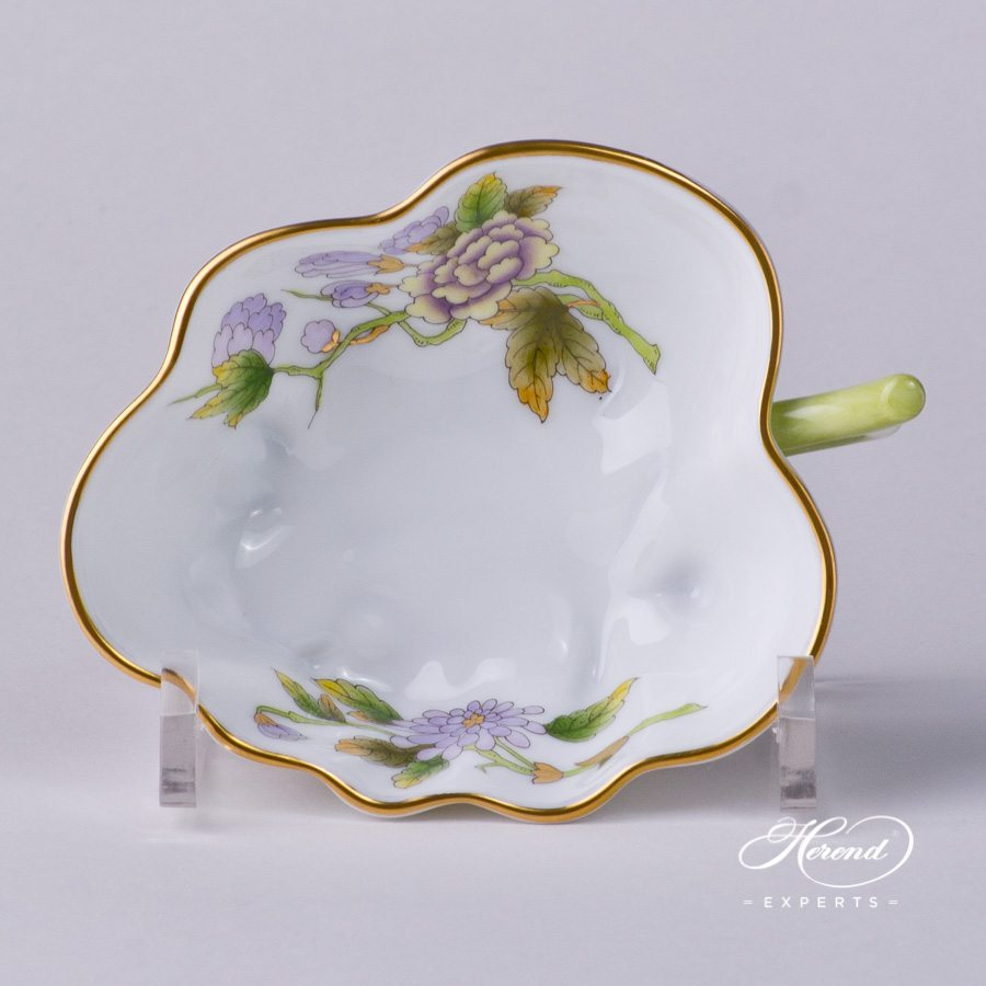 Sugar Bowl 492-0-00 EVICTF1 Royal Garden Green Flower decor. Herend porcelain hand painted