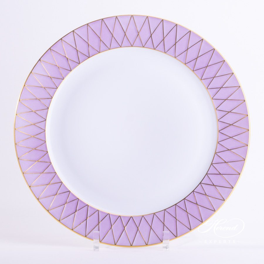Service Plate 4760-0-00 BABOSL-OR Lilac decor - Herend porcelain hand painted.