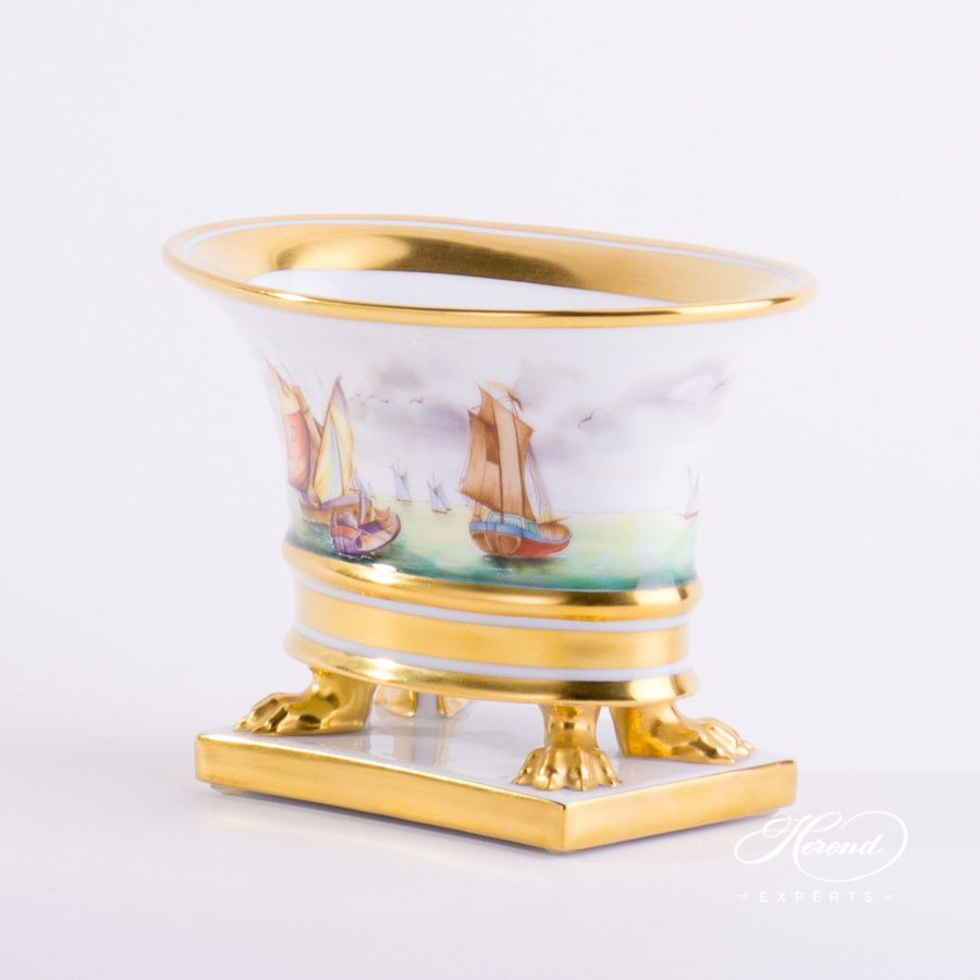 Vase Empire 6410-0-00 VIT Sailing Boat pattern - Herend porcelain hand painted.