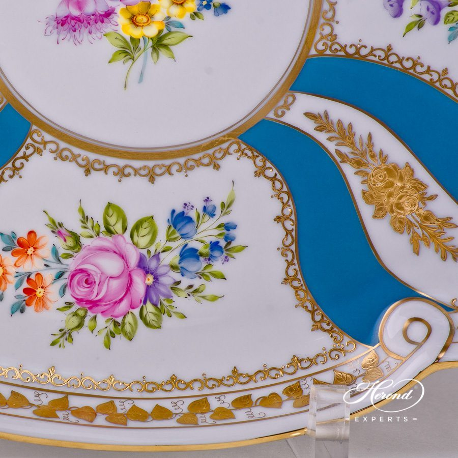 Tray with Ribbon 20400-0-00 Colette decor - Herend porcelain hand painted.