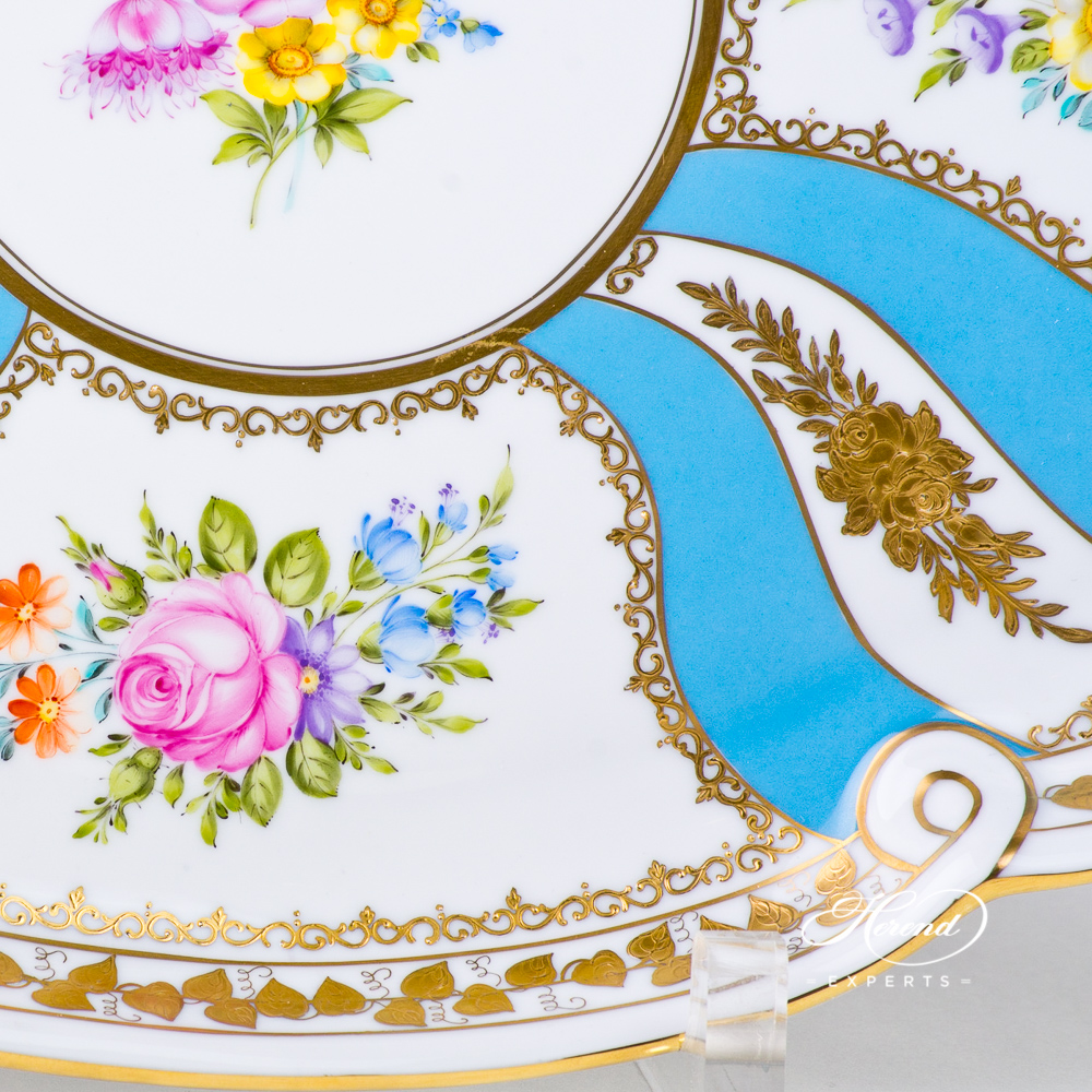 Tray with Ribbon 20400-0-00 Colette design. Herend fine china tableware. Hand painted