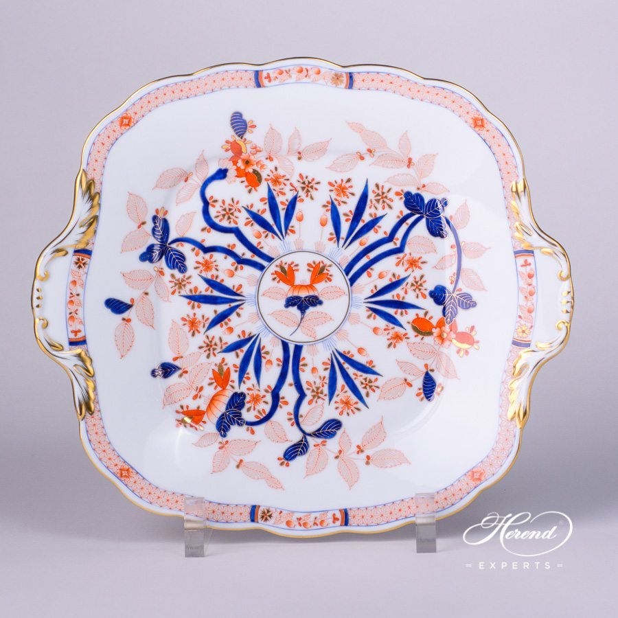 Cake Plate 20431-0-00 Canton design. Herend fine china tableware. Hand painted