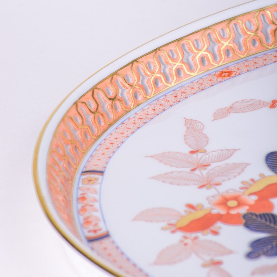 Tray 3381-0-00 Canton design. Herend fine china tableware. Hand painted