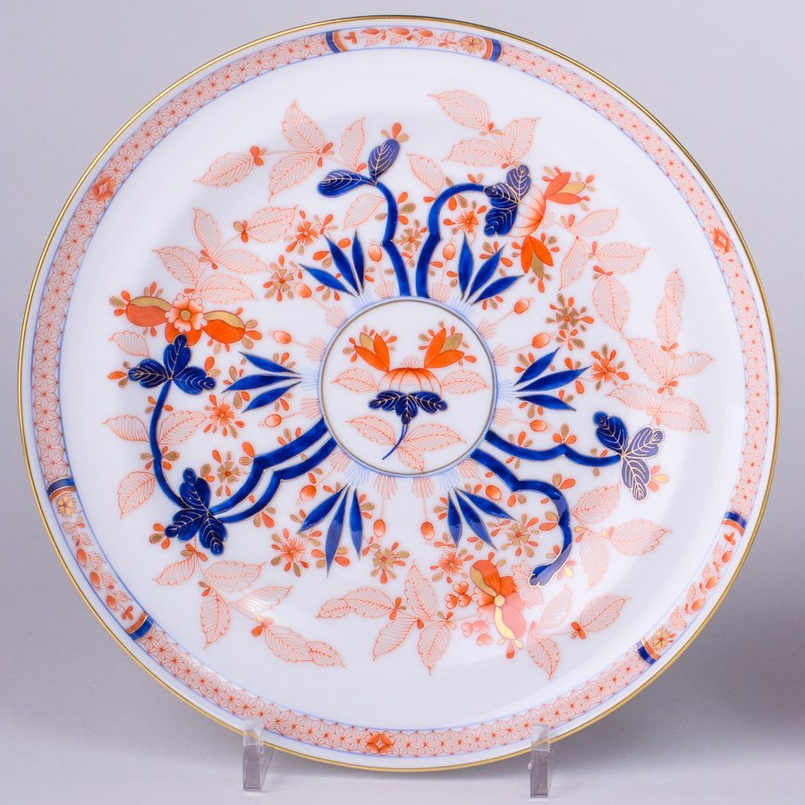 Dessert Plate 6547-0-00 Canton design. Herend fine china tableware. Hand painted
