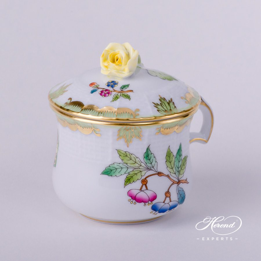 Cream Cup w. Rose Knob 385-0-09 VBA Queen Victoria pattern. Herend fine china hand painted. Classical style tableware