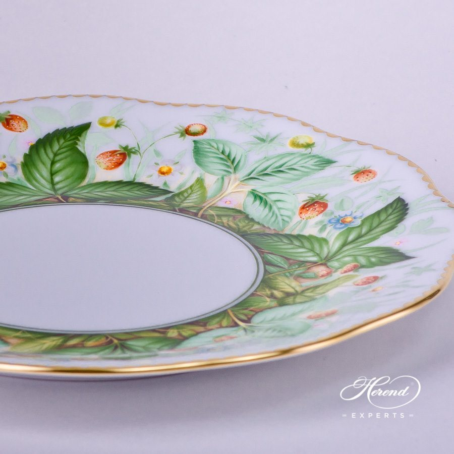 Dessert Plate 20517-0-00 FSB Strawberry pattern. Herend porcelain hand painted