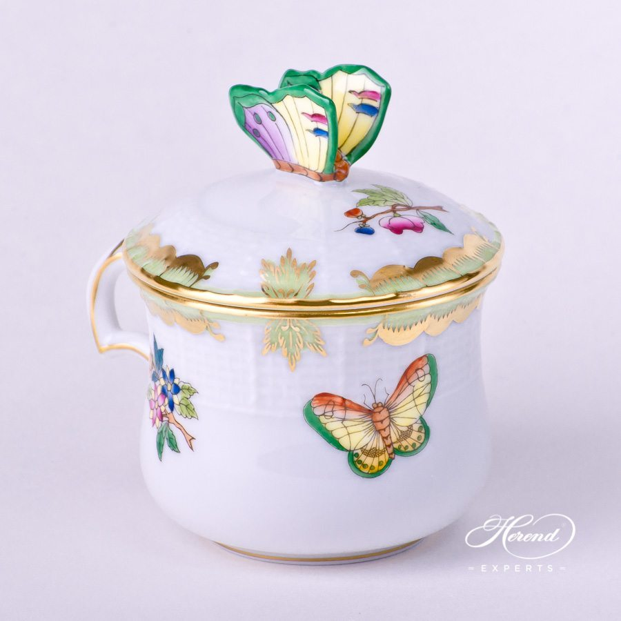 Cream Cup w. Butterfly Knob 385-0-17 VBA Queen Victoria pattern. Herend fine china hand painted. Classical style tableware