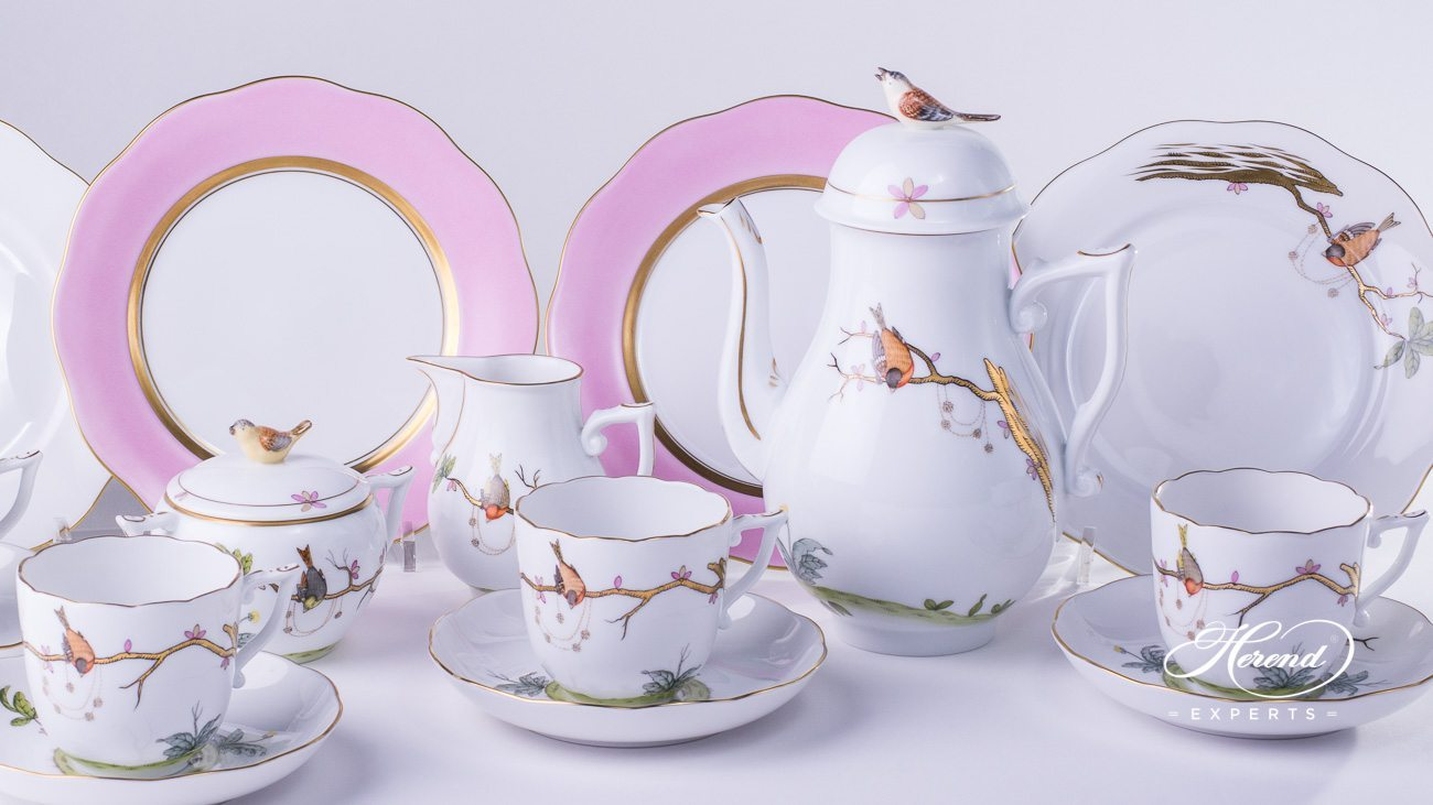 Coffee Set For 4 Persons Dream Garden Herend Experts