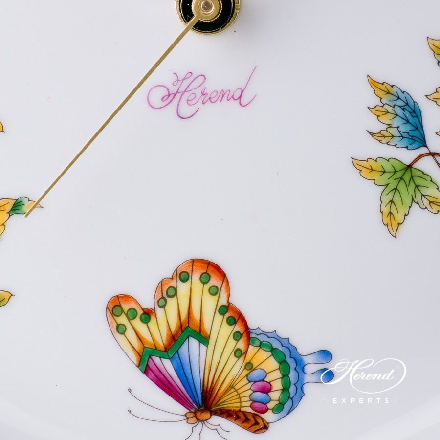 Wall Clock 527-0-47 V Queen Victoria decor. Herend porcelain hand painted