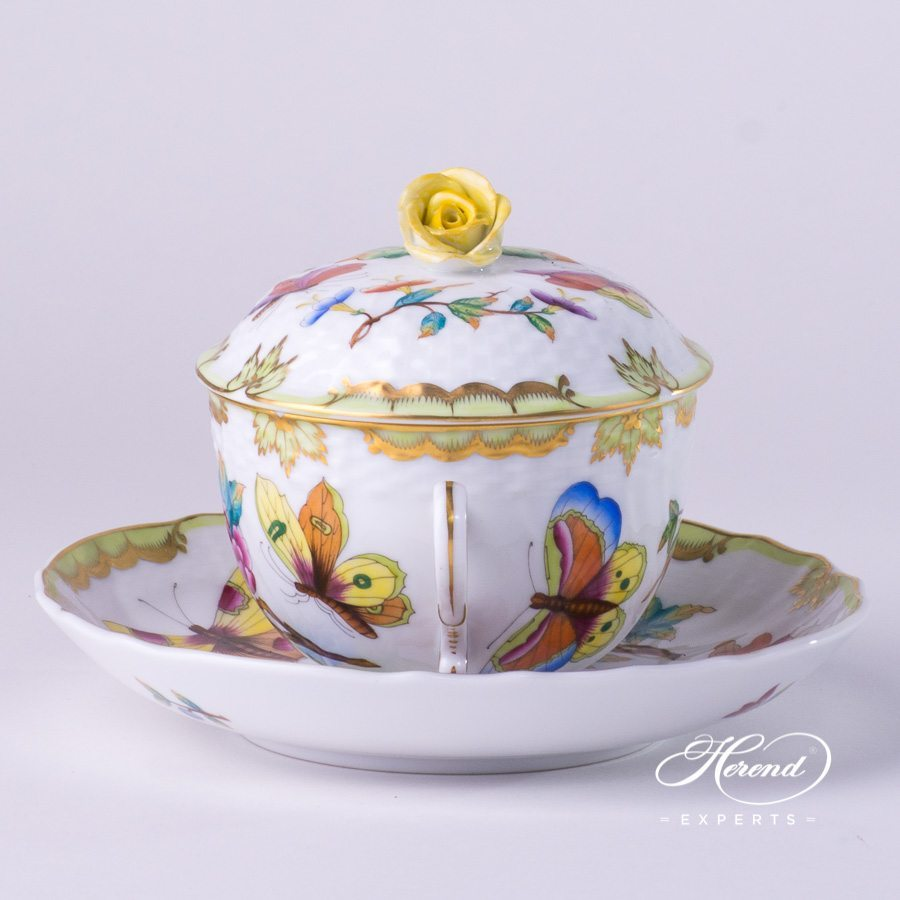 Soup Cup w. Lid1718-0-09 VICTORIA - Old Queen VICTORIA design. Herend fine china