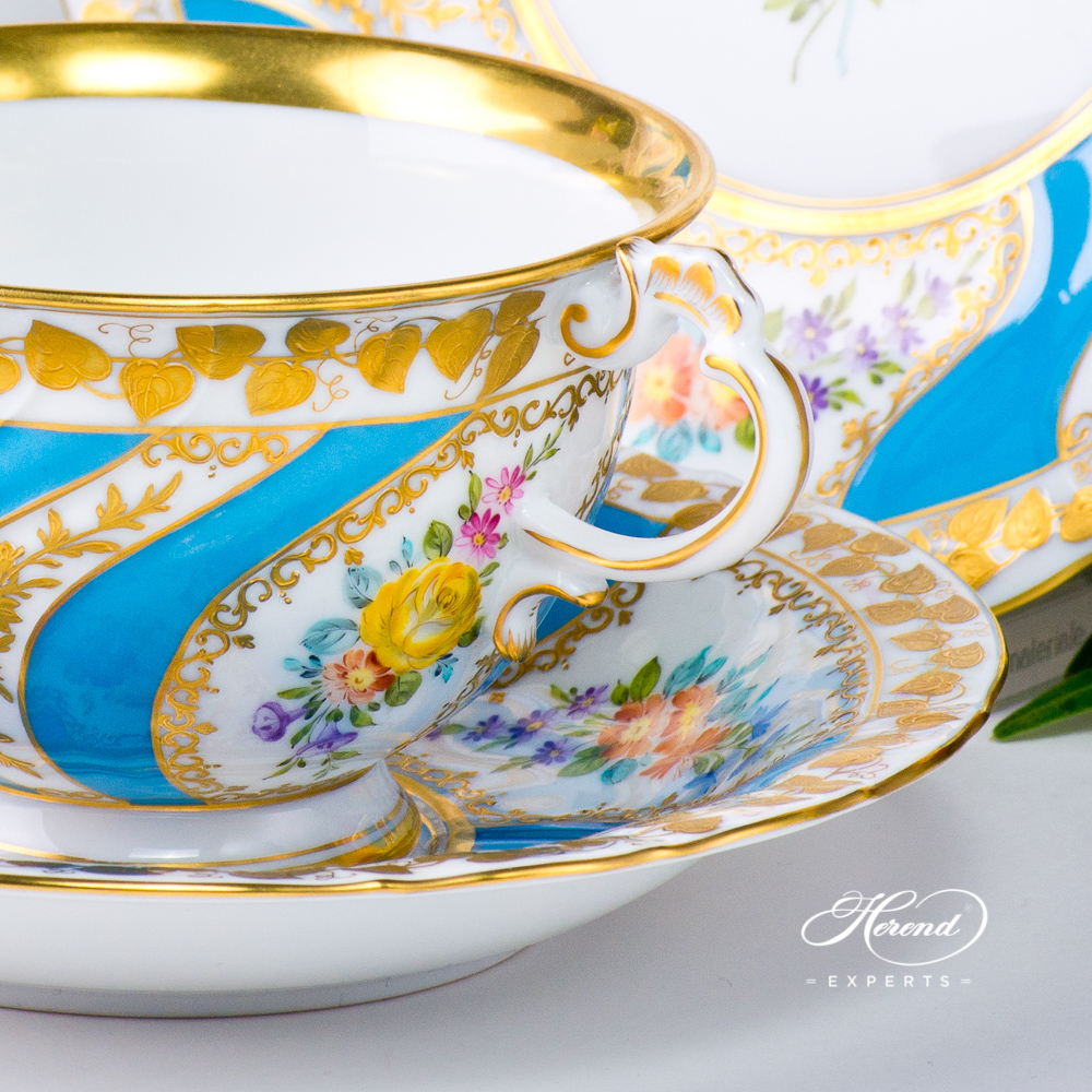 Basic Tea Set - Herend Colette design. Herend fine china tableware. Hand painted