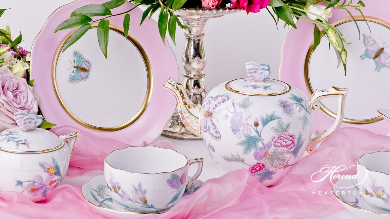 PrevNext & Tea Set for 2 Persons - Royal Garden | Herend Experts