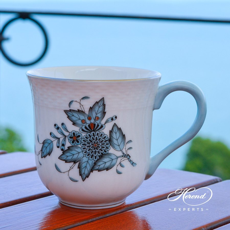 Universal Cup 1729-0-00 ATQ3-PT Apponyi Turquoise pattern - Herend porcelain hand painted