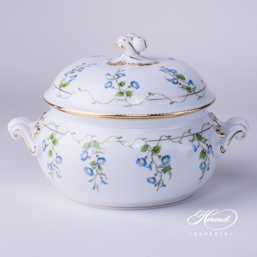 Soup Tureen with Twisted Knob 2023-0-06 NY Nyon decor. Herend porcelain hand painted