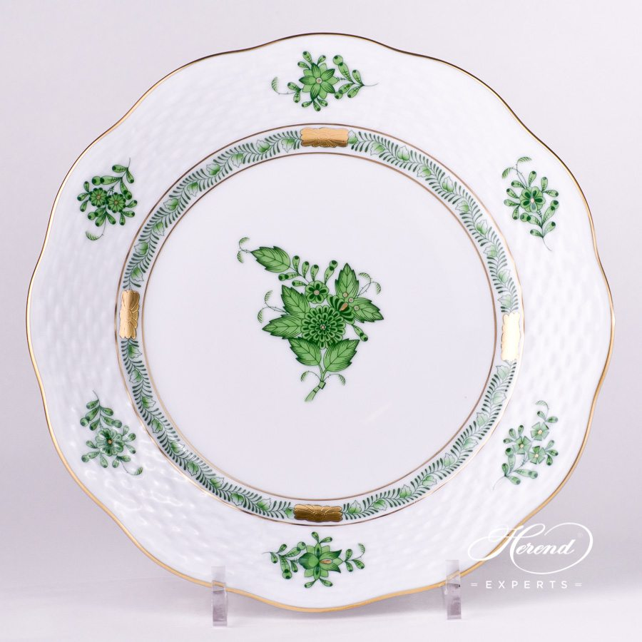 Dessert Plate 517-0-00 AV - Chinese Bouquet / Apponyi Green decor. Herend porcelain hand painted