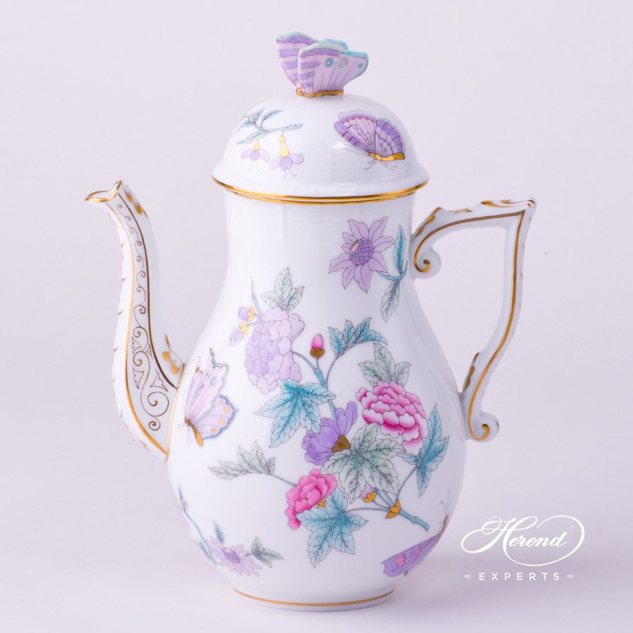 Coffee Pot 613-0-17 EVICT2 Royal Garden Turquoise decor. Herend porcelain hand painted