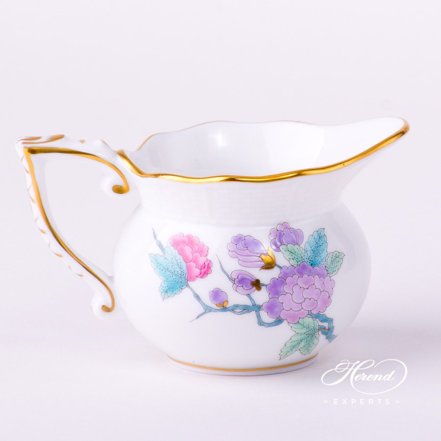 Creamer 644-0-00 EVICTF2 Royal Garden Turquoise Flower decor. Herend porcelain hand painted