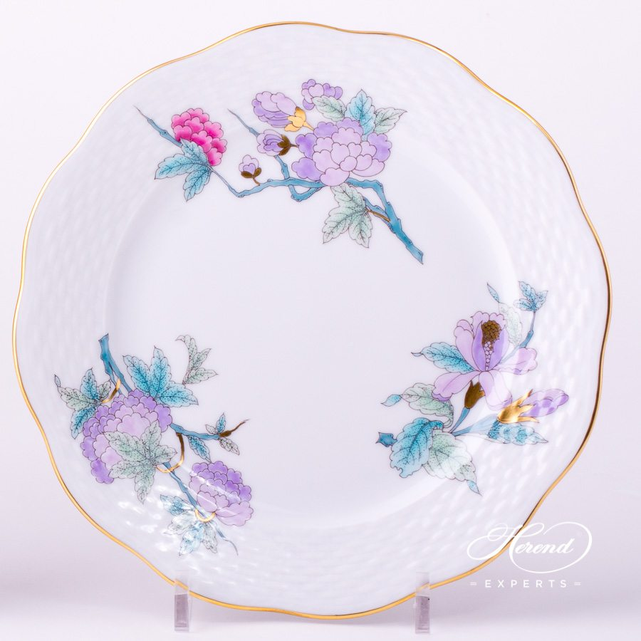 Dessert Plate 517-0-00 EVICTF2 Royal Garden Flower Turquoise decor. Herend porcelain hand painted