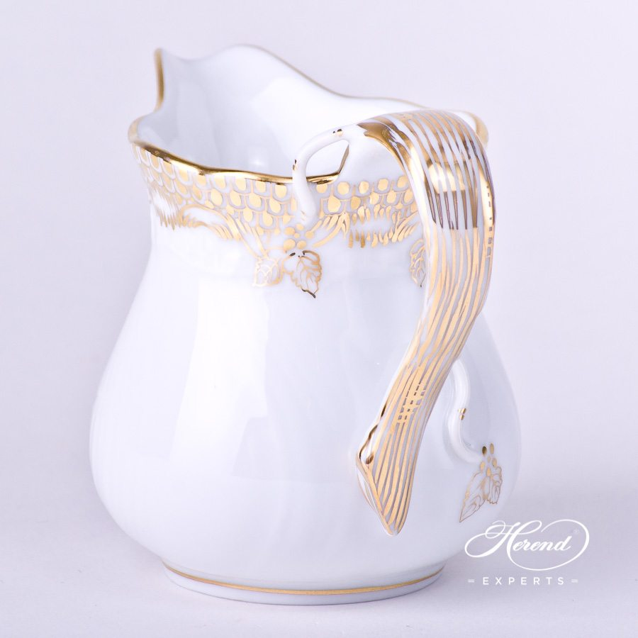 Creamer1644-0-00 A-ETOR Gold Fish Scale decor. Herend porcelain tableware. Hand painted
