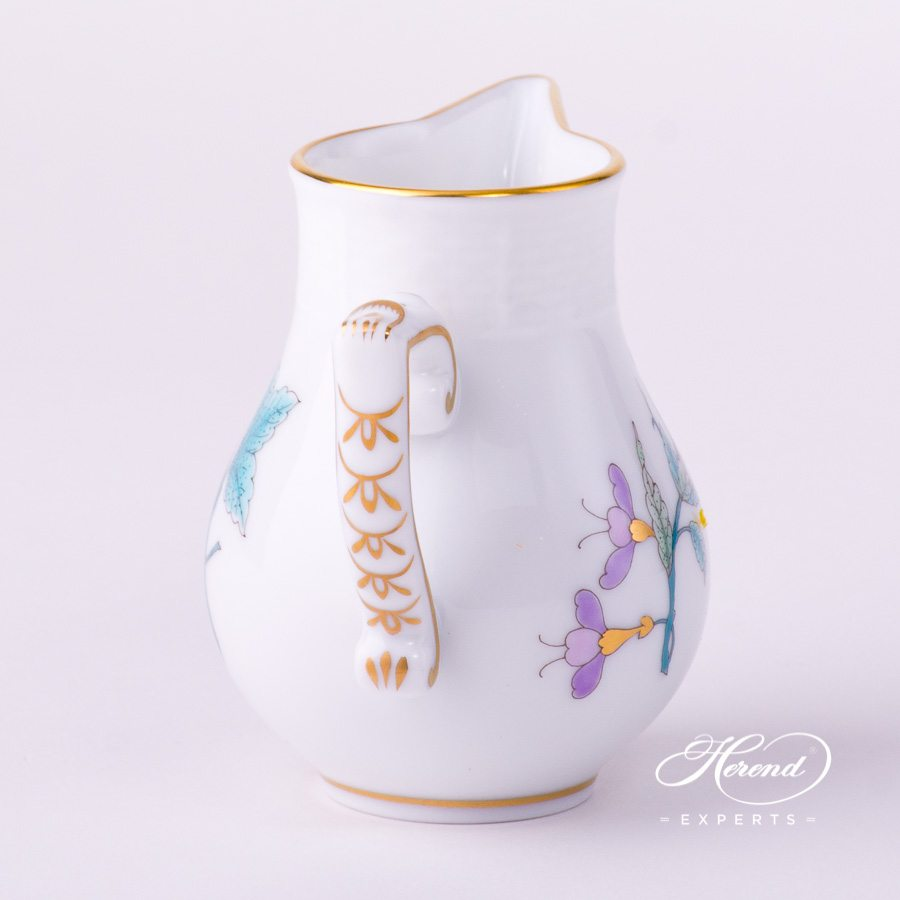 Milk Jug 658-0-00 EVICTF2 Royal Garden Turquoise Flower decor. Herend porcelain hand painted