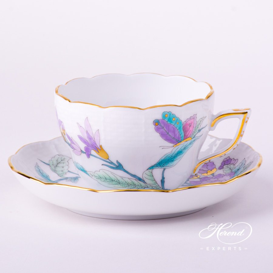 Tea Cup or Coffee Cup 730-0-00 EVICTF2 Royal Garden Flower decor. Herend porcelain hand painted Universal Cup