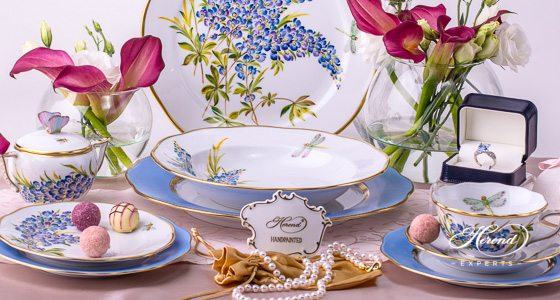Texas Bluebonnet Herend porcelains