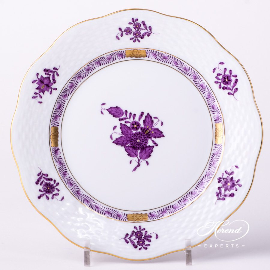 Dessert Plate Chinese Bouquet Apponyi Lilac Herend Experts