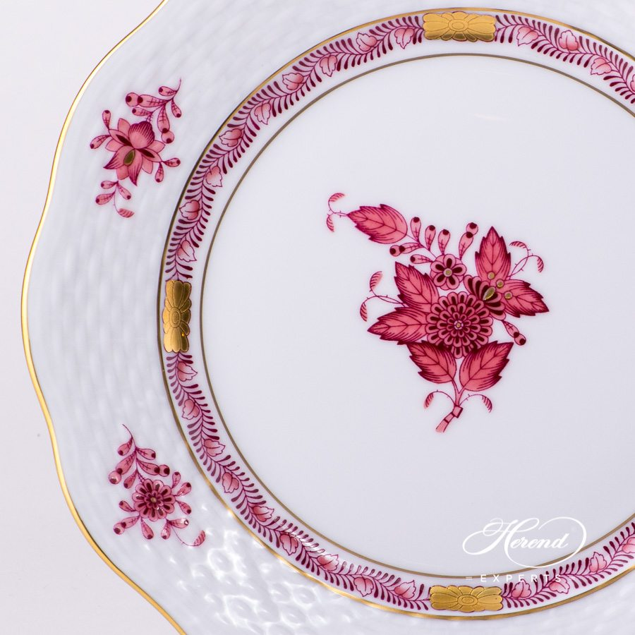 Dessert Plate 517-0-00 AP Apponyi Purple decor. Herend porcelain hand painted