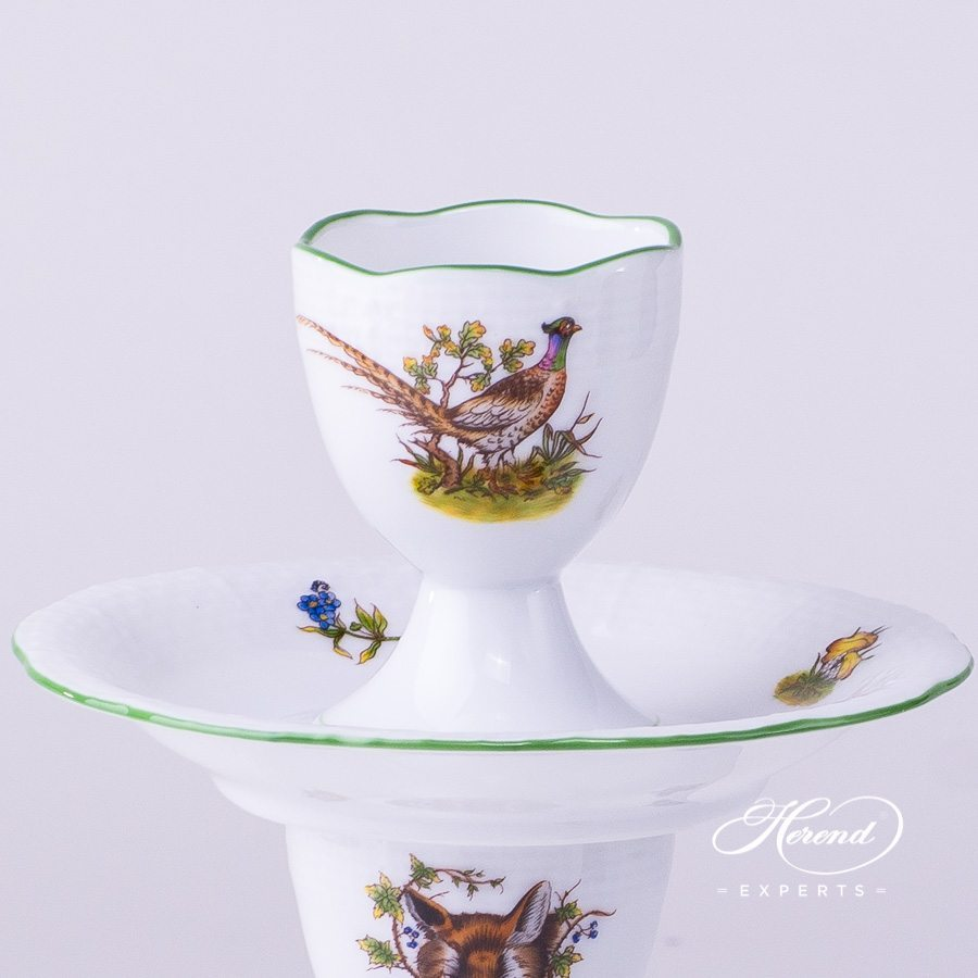 Egg Cup 264-0-00 CHT Hunter Trophies decor. Herend porcelain dinnerware. Hand painted