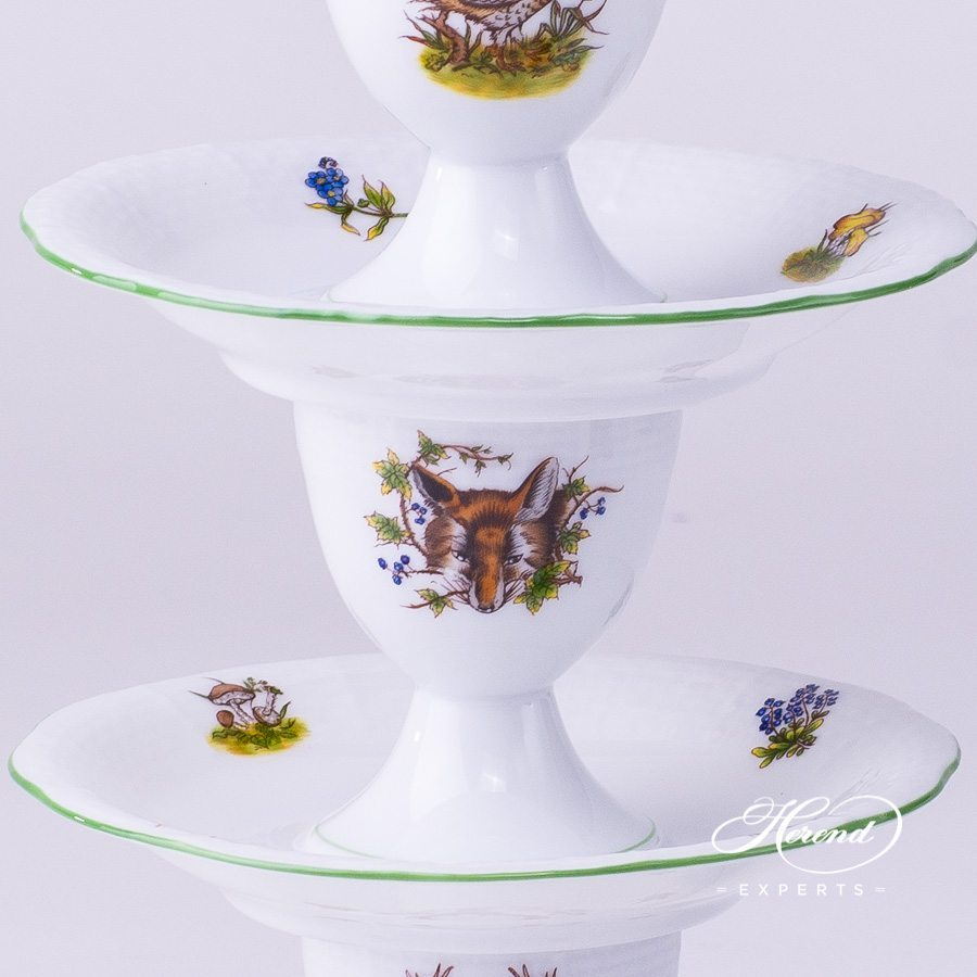 Egg Cup 264-0-00 CHT Hunter Trophies pattern. Herend fine china dinnerware. Hand painted