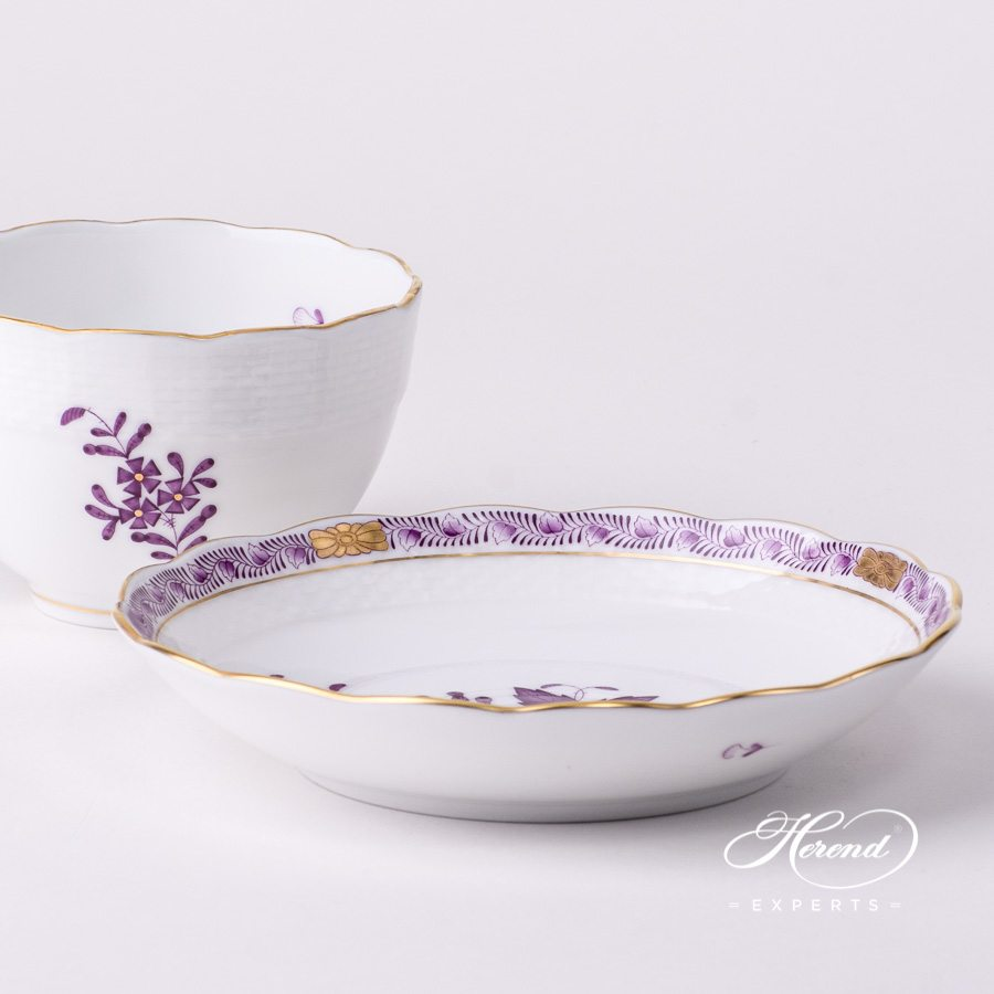 Tea Cup 701-0-00 AL Apponyi Lilac decor. Herend porcelain hand painted