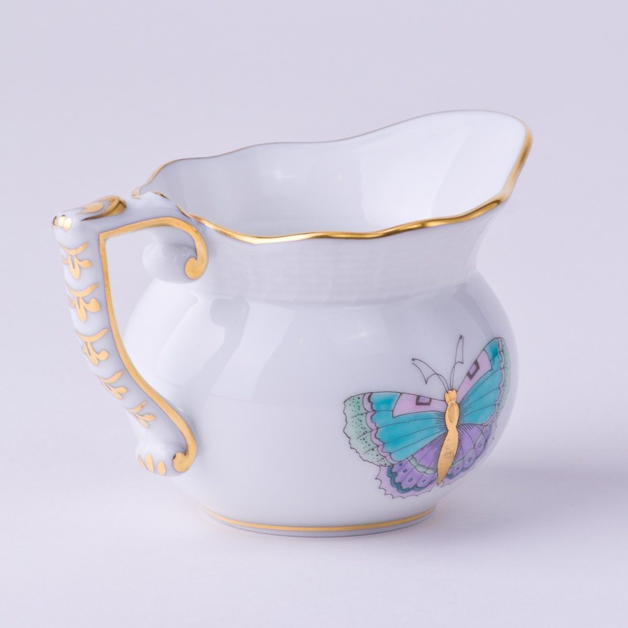 Creamer 644-0-00 EVICTP2 Royal Garden turquoise pattern - Herend porcelain hand painted.