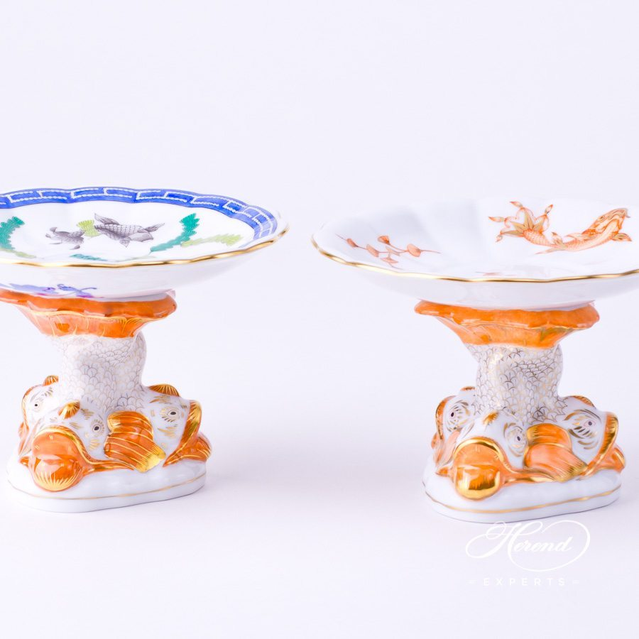 Ornamental Cup / Fancy Dish 7557-0-00 PO Fishes design. Herend fine china fancy dish. Hand painted