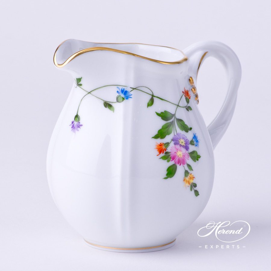 Creamer 4245-0-00 IAVT Imola Colored decor. Herend porcelain tableware. Hand painted