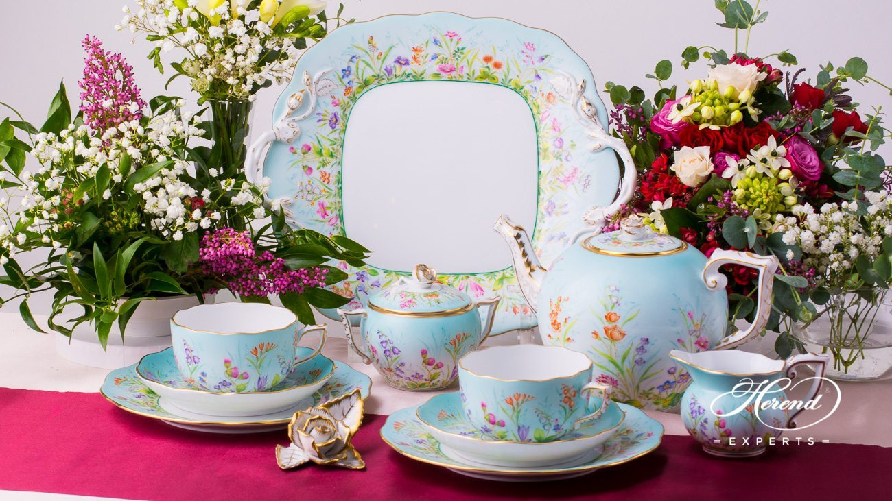 tea set w cake plate for 2 people  four seasons qs