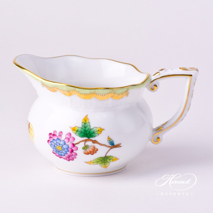 Creamer 643-0-00 VBO Queen Victoria decor. Herend porcelain tableware. Hand painted