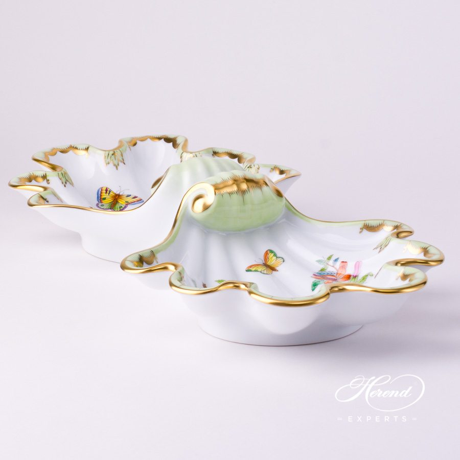 Double Shell7522-0-00 VBA Queen Victoria decor. Herend porcelain tableware. Hand painted