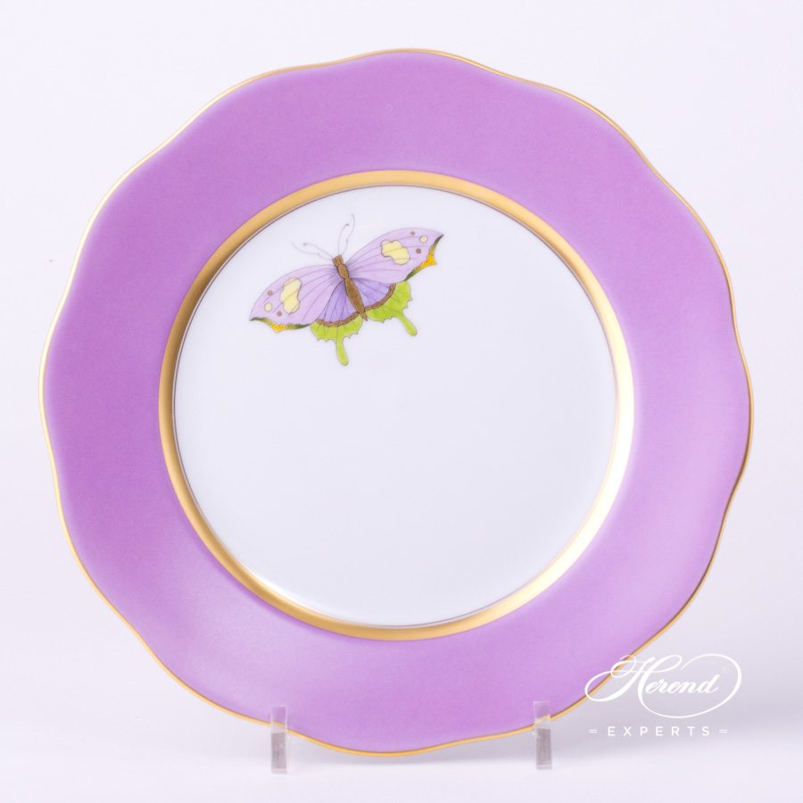 Dessert Plate 20517-0-00 X-CL1 Royal Garden Lilac Edge decor. Herend porcelain hand painted