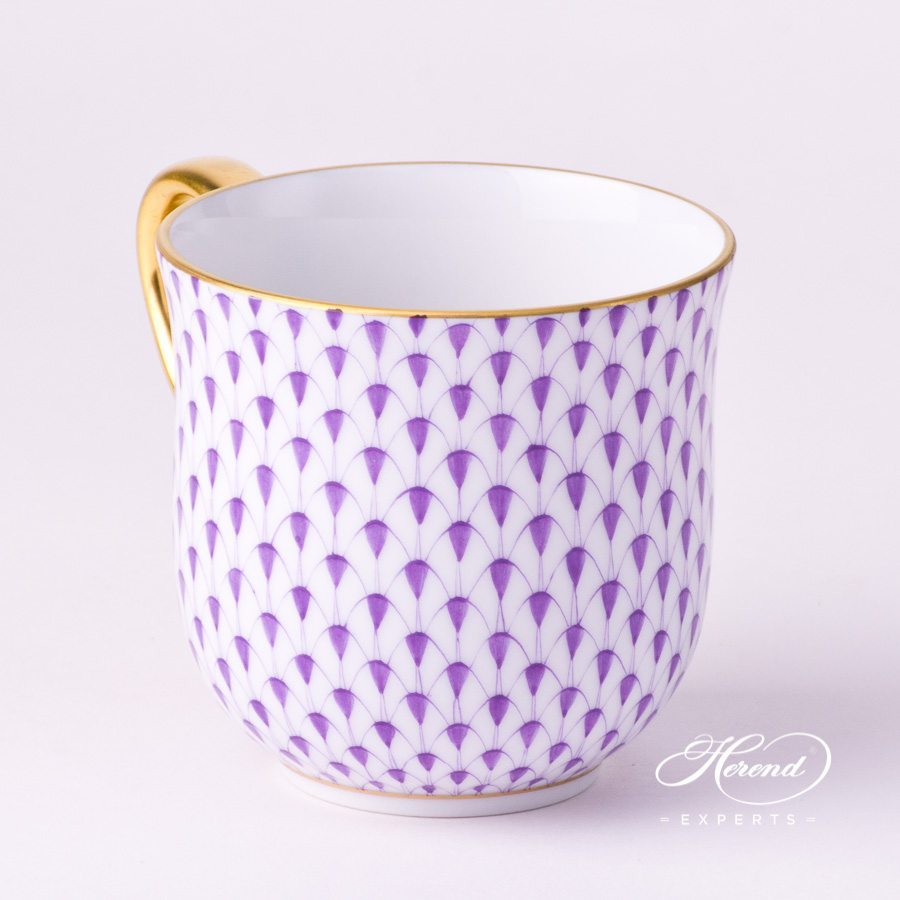 Universal Cup / Breakfast Cup 2739-0-00 VHL Lilac Fish Scale with Gold decor. Herend porcelain hand painted