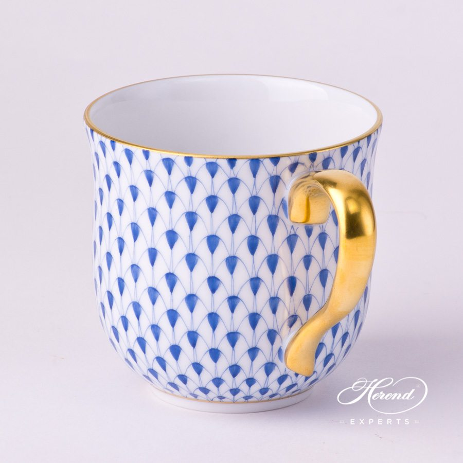 Universal Cup / Breakfast Cup 2739-0-00 VHFB Navy Blue Fish Scale with Gold decor. Herend porcelain hand painted