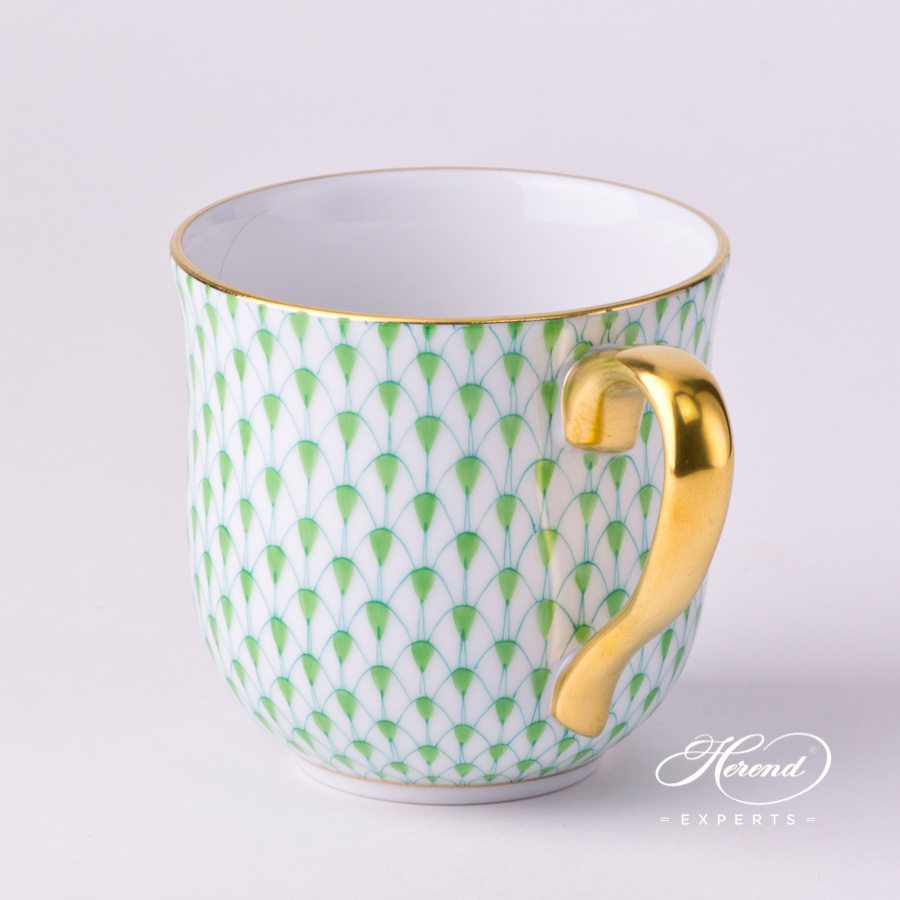 Universal Cup / Breakfast Cup 2739-0-00 VHV2 Light Green Fish Scale with Gold decor. Herend porcelain hand painted