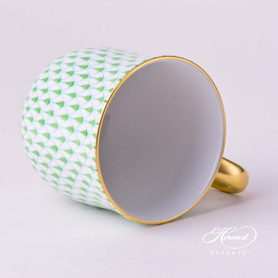 Universal Cup / Breakfast Cup2739-0-00 VHV2 Light GreenFish Scale with Gold decor. Herend porcelain hand painted