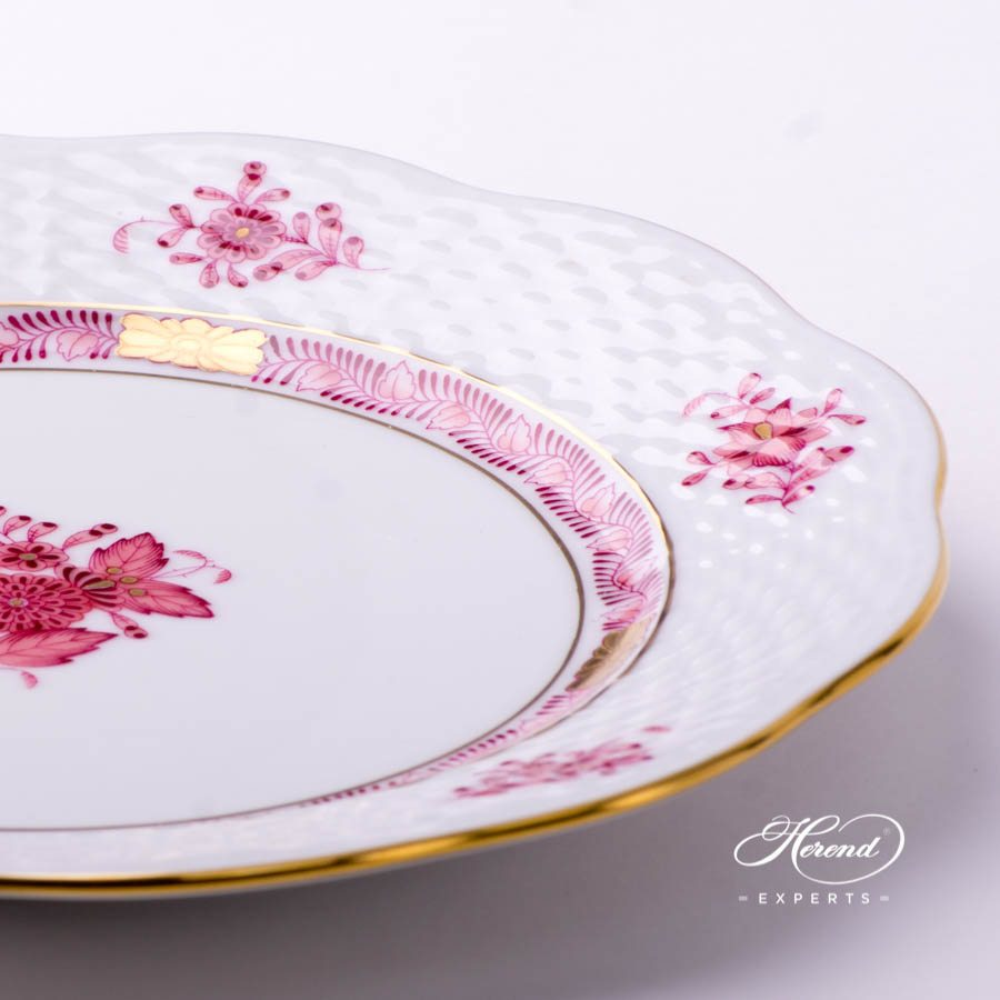 Dessert Plate 517-0-00 AP2 Chinese Bouquet Light Raspberry / Apponyi Light Purple - AP2 decor. Herend porcelain tableware. Hand painted