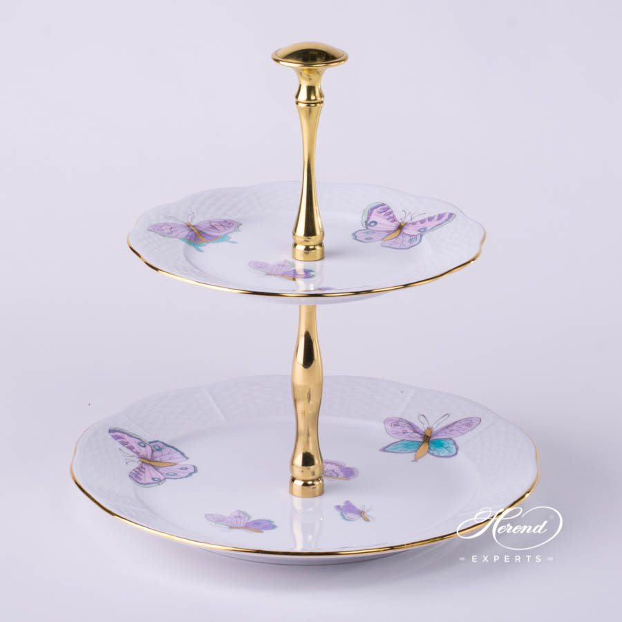 2 tier cake stand cake stand 2 tier royal garden herend experts 1051