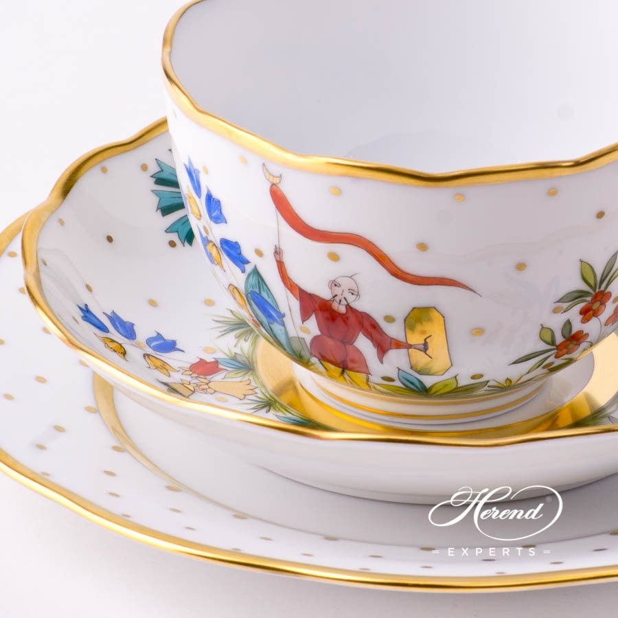 Mini Tea Set - Oriental Showmen FODO and FODOS decors. Herend porcelain tableware. Hand painted