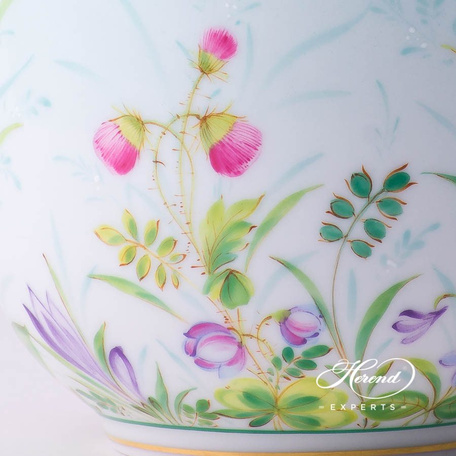 Universal Cupor Breakfast Cup2729-0-00 QS Sky Blue decor. Herend porcelain tableware. Hand painted