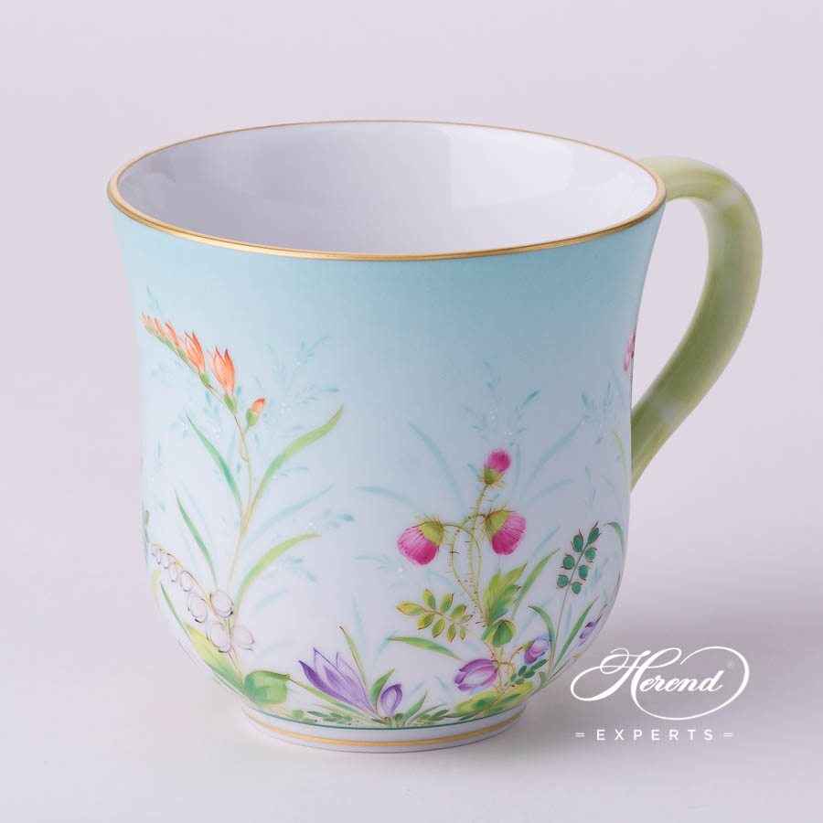 Universal Cup/ Breakfast Cup2729-0-00 QS Four Seasons Flower design. Herend fine china tableware. Hand painted. Luxury item