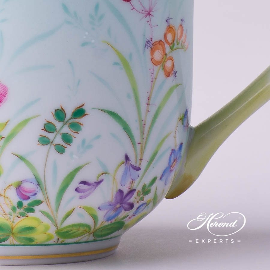 Universal Cup or Breakfast Cup 2729-0-00 QS Sky Blue decor. Herend porcelain tableware. Hand painted